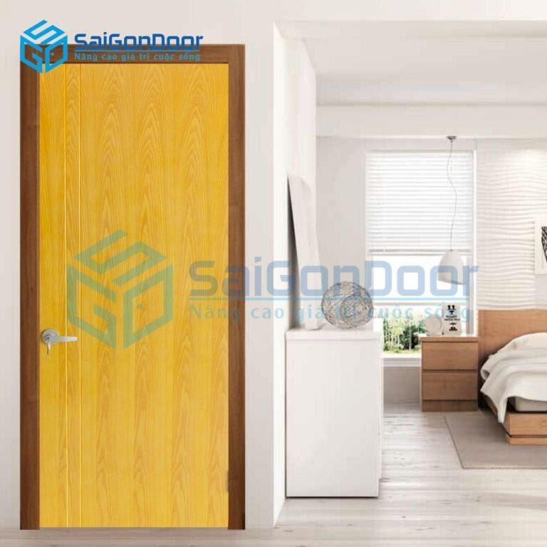 Cửa gỗ thông phòng do SaiGonDoor thi công đảm bảo bền, đẹp, hợp phong thủy